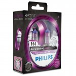 Philips H4 12V ColorVision Color Vision purple + 60% Περισσότερο Φως Σετ των 2