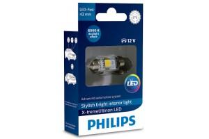 Philips C5W X-Treme Vision 43mm Πλαφονιέρας 12V 129466000KX1